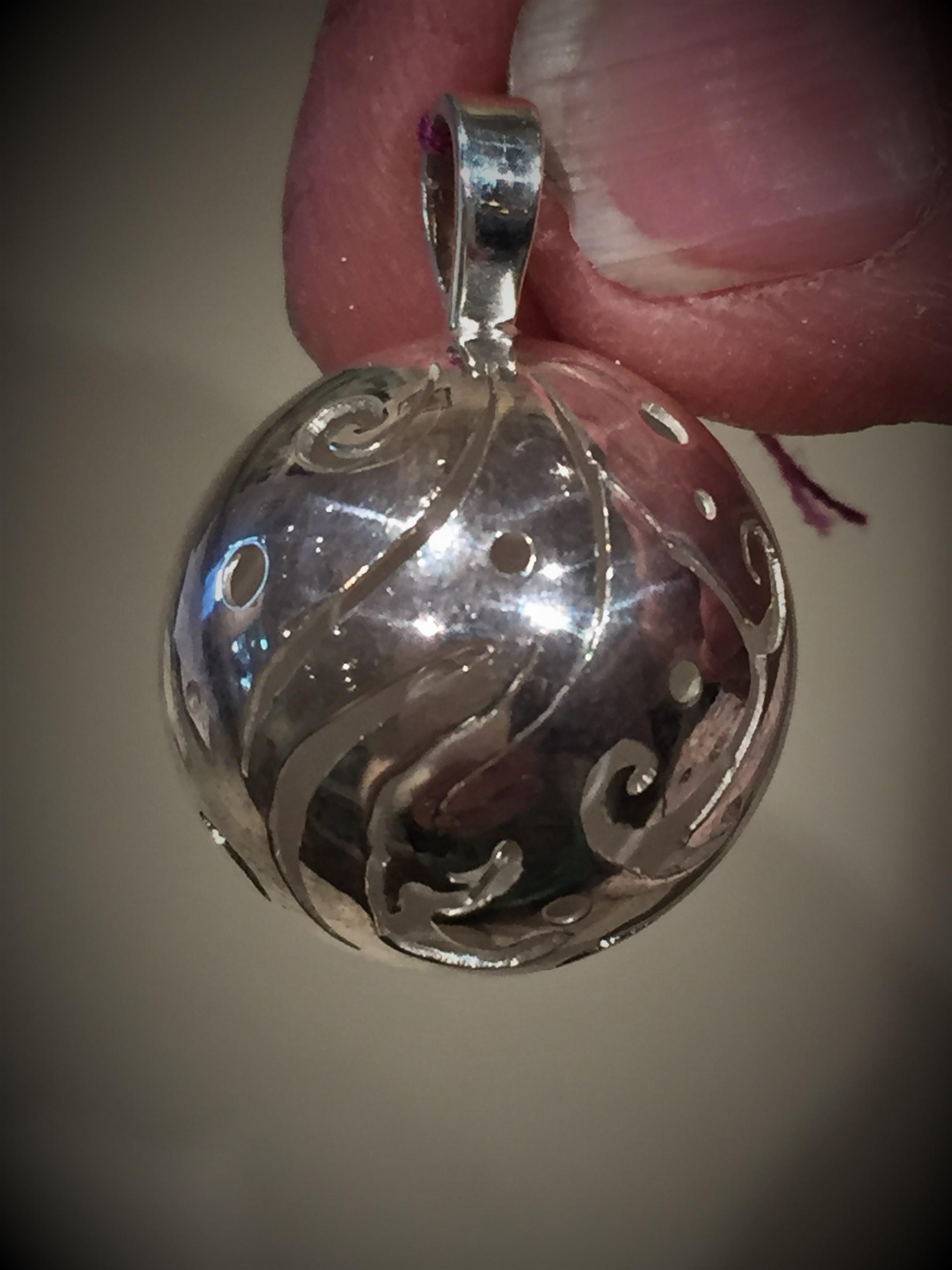 Jingle Bells Sterling Silver Pendant