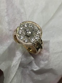 repurposed gold and diamonds ring
