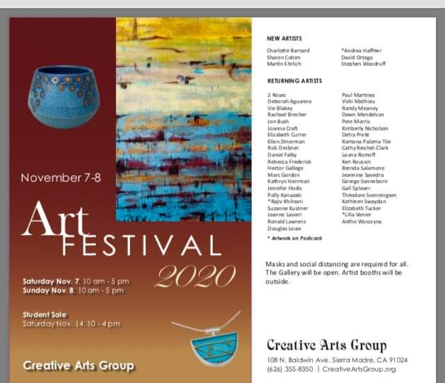 Fine Arts festival at the creative arts group in Sierra Madre